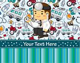 cartoon doctor card