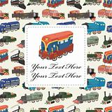 cartoon train card