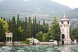 Italy. Lake Garda. Ancient villa