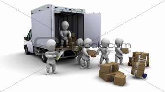 men packing boxes for shipment