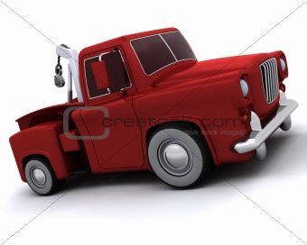 Caricature of 50's pickup truck
