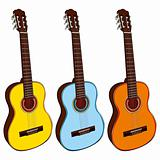 illustration of classic guitars