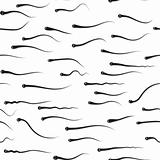 Funny vector texture - sperm competition