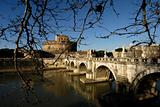 Castel Sant&#39;Angelo and Bridge,Rome,Italy
