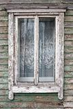 Old window on a wall