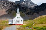 Historic Church at the Antarctic whaling station of Grytviken.