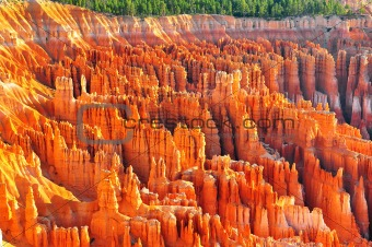 Formations at bryce canyon ampitheater