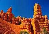 Rock formations in red canyon park in Utah.
