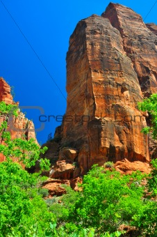 Jagged rock formation at Zion NP