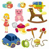 cartoon baby toy icon