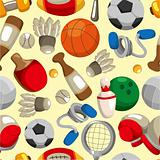 seamless sport goods pattern