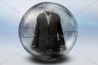 Suit inside Bubble