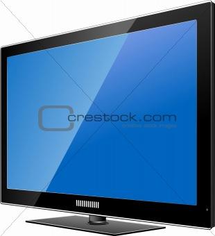 Flat computer monitor. Display. Vector illustration