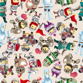 seamless Knight pattern