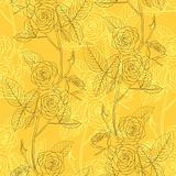 Rose seamless flower background, vector illustration.
