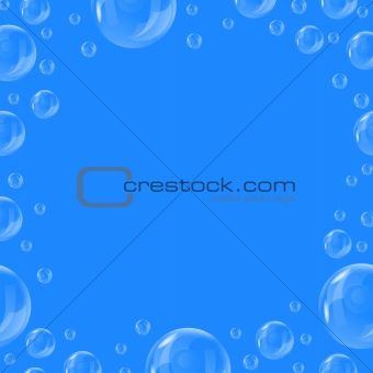 Frame of beautiful bubbles