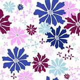 Floral seamless white pattern