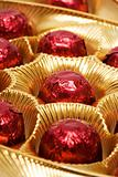 Chocolates in a red foil