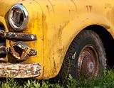 Rusting Yellow Truck Detail