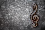 rusty clef on grunge background
