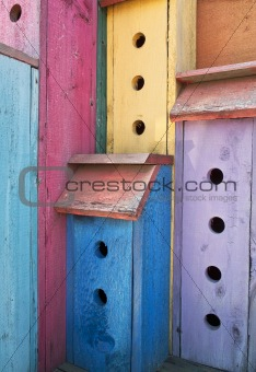Colorful High-Rise Birdhouse