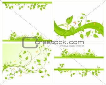 Set vector backgrounds