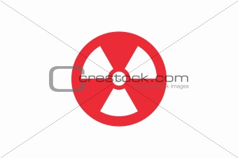 Radiation sign on Japan flag