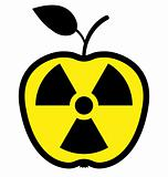 Apple polluted by radiation