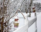 Snowy fencepost