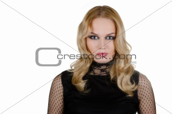 beauty young blond woman