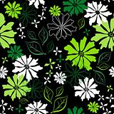 Floral seamless dark pattern