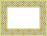 vector folk Rectangular Frame Cross-stitch