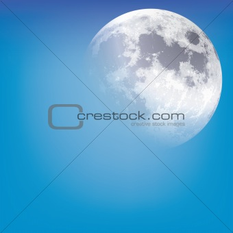 abstract background with moon on the sky