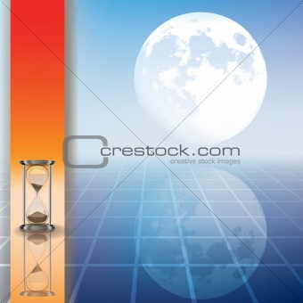 abstract illustration with hourglass and moon