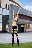 modern dancer on pointe