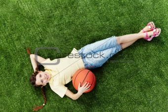Girl with ball