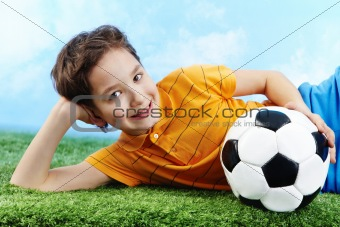 Lad with ball