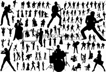 Music vector silhouettes