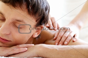 Enjoying massage