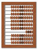 vector old wooden abacus