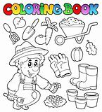 Coloring book with garden theme