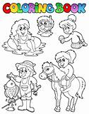 Coloring book with kids activities