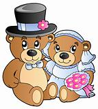 Wedding teddy bears