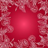 Vector floral background, frame from flowers