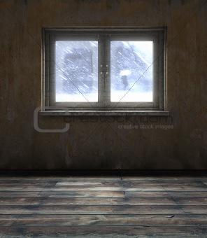 old room window