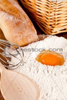 preparing for dough