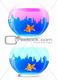 Aquarium. Vector illustration.