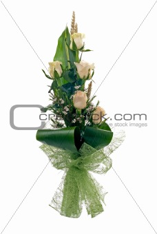 Pale yellow rose bouquet