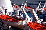 life raft on liner