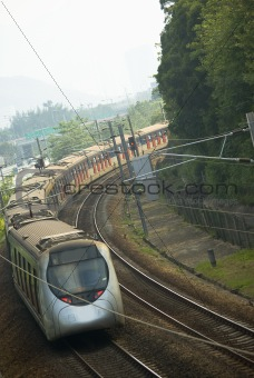 Modern passenger train